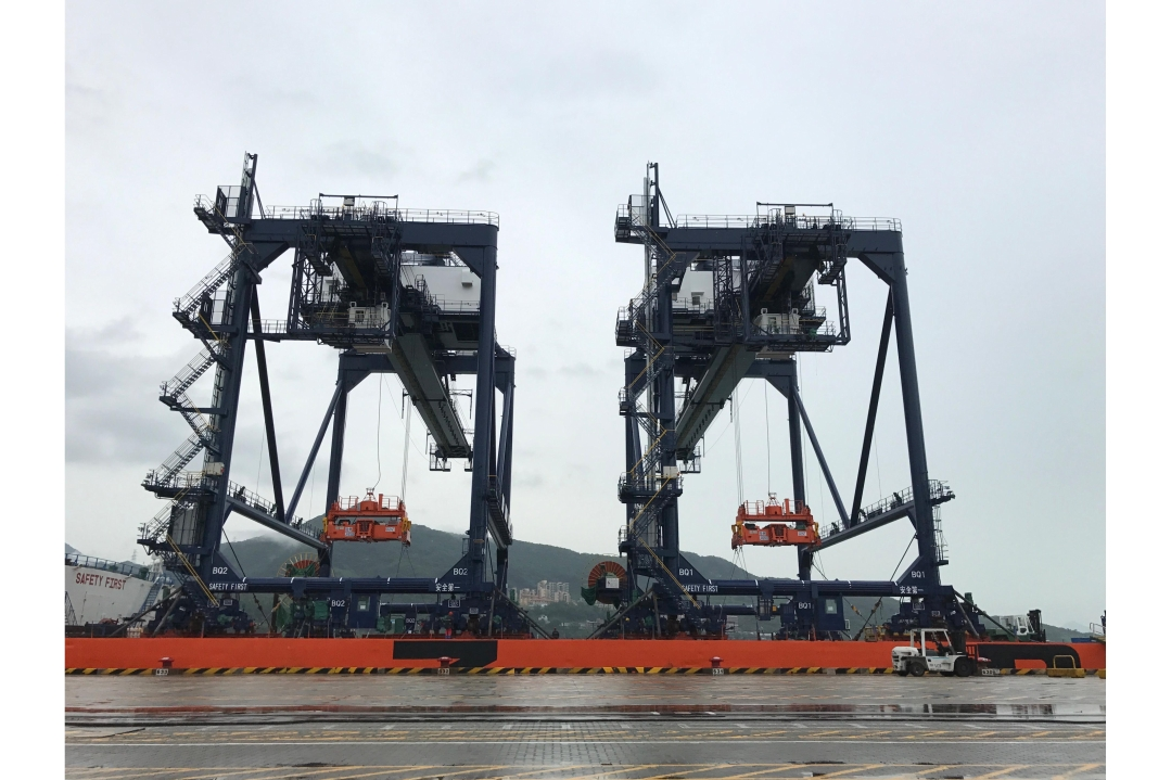 YICT takes delivery of two barge quay cranes