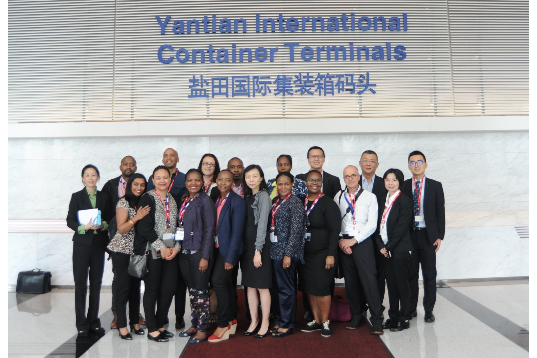 A delegation of representatives from COSCO SHIPPING Ports Limited and Ports of South Africa visited Yantian