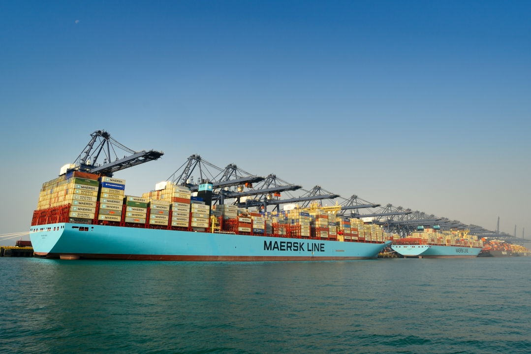 Two of the World's Largest Container Vessels Visit YICT Simultaneously